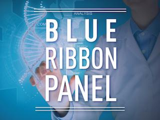 Image with the words Blue Ribbon Panel